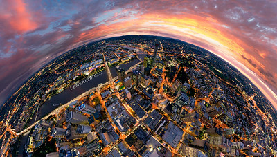 Brisbane CBD Aerial - Sunset
