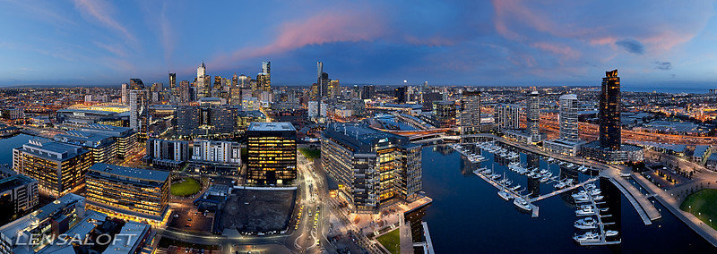 Hovering steady at 500ft the idea was to capture the ANZ building as being connected to the river and CBD, whilst hiding the unsightly wasteland of train lines dividing the two. 2 weeks of planning for 30 minutes of golden light and one amazing high res panorama.   The image picked up 4 awards at the 2012 Professional Aerial Photographers Conference in the US including 'Aerial Photograph of the year' - 'Peoples Choice' - 'Judges Choice' - 'Best Commercial Aerial Photography'