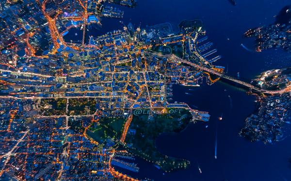 Night Map of Sydney